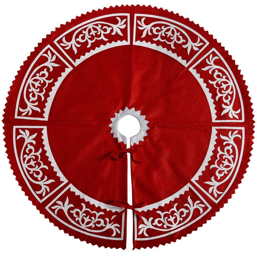 Christmas Tree Skirt Decoration, 122 cm - Large, Red