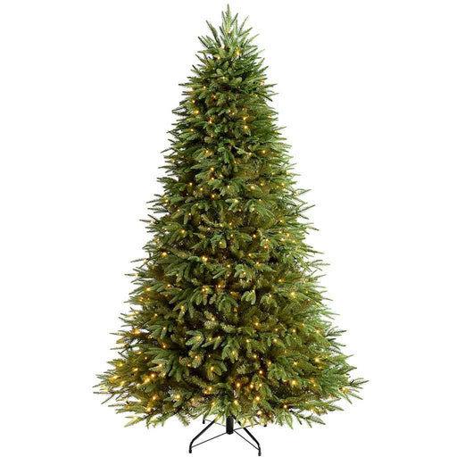 WeRChristmas The Royal Fir Pre-Lit Multi-Function Christmas Tree with 800 LED Lights, 8 ft/2.4 m