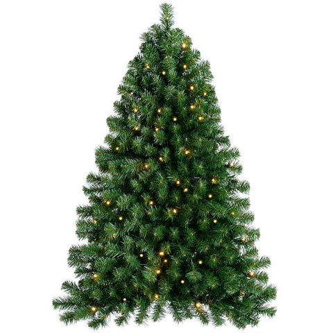 WeRChristmas Pre-Lit Green Wall Mounted Christmas Tree with 80 Warm White LED Lights, 4 ft/1.2 m