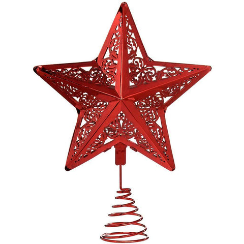Star Christmas Tree Top Decoration, 30 cm - Red