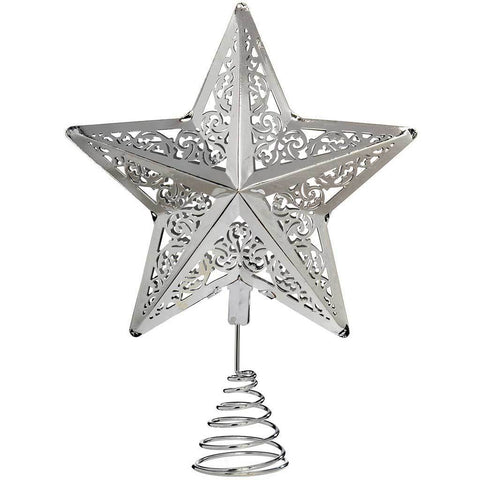 Star Christmas Tree Top Decoration, 30 cm - Silver