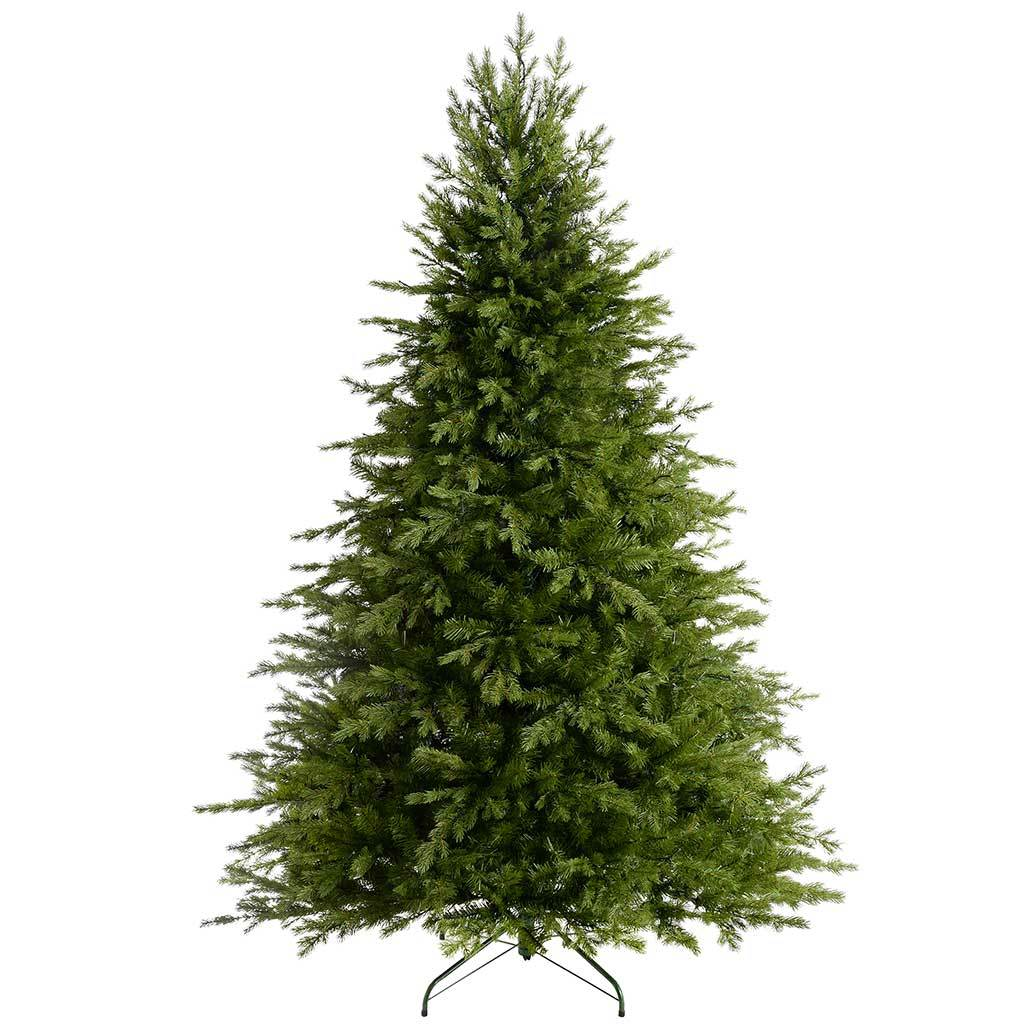 WeRChristmas Pre-Lit Grand Alaskan Fir Multi-Function Christmas Tree with 400 LED Lights, 6 ft/1.8 m