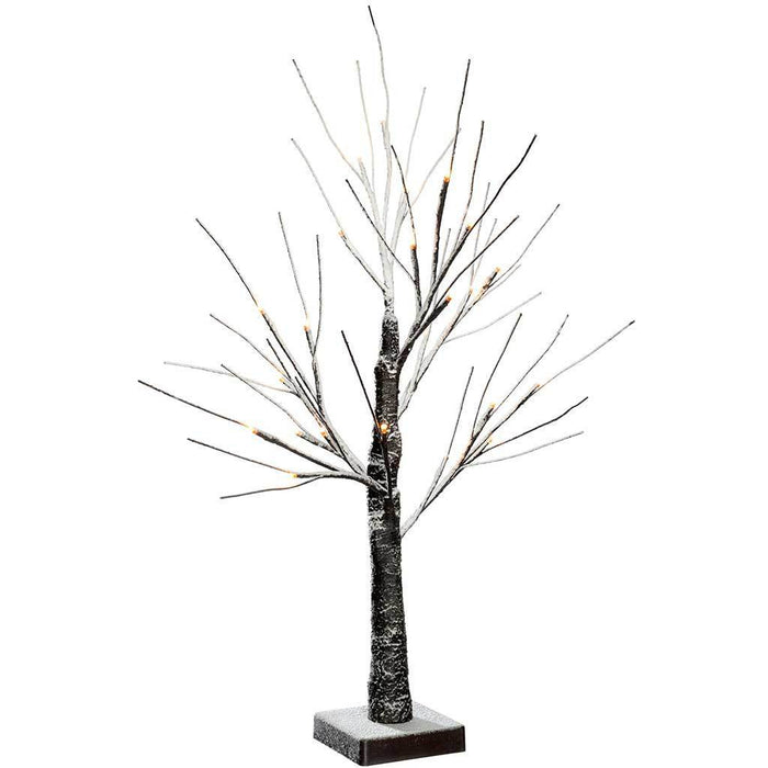 Pre Lit Christmas Twig Tree: Pre-Lit LED Twig Christmas Tree With Snow Effect