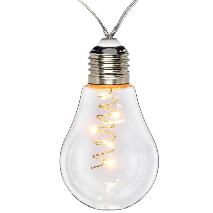 Glass Light Bulb String Lights Christmas Lights, 50 Warm White LED Lights, 7.5 m