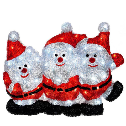 LED 3D Santa Christmas Decoration, 32 cm - Multi-Colour