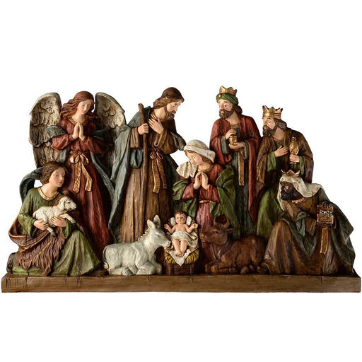 Hand Painted Nativity Scene Christmas Decoration, 80 cm - Extra Large, Multi-Colour