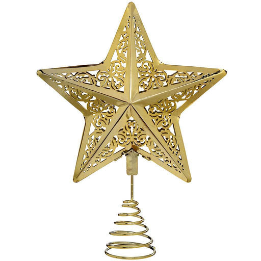 Star Christmas Tree Top Topper Decoration, 30 cm - Gold