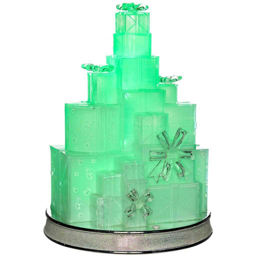 Musical Pre-Lit Colour Changing LED Christmas Gift Box Tower Scene Decoration, Acrylic, 29 cm