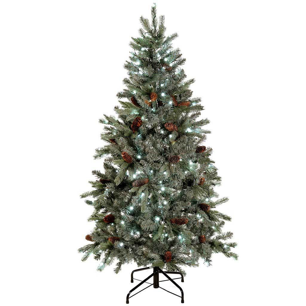 Pre-Lit Edwardian Spruce Pre-Lit Multi-Function Christmas Tree, 5ft / 1.5 m with 250-LED Lights