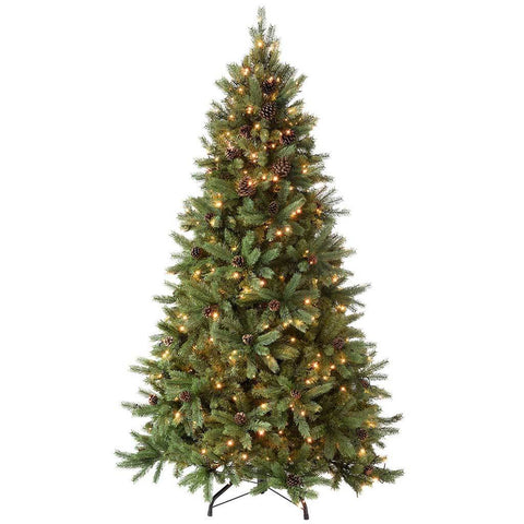 WeRChristmas Pre-Lit Craford Pine Cone Multi-Function Christmas Tree with 300-LED Lights, 5 ft/1.5 m