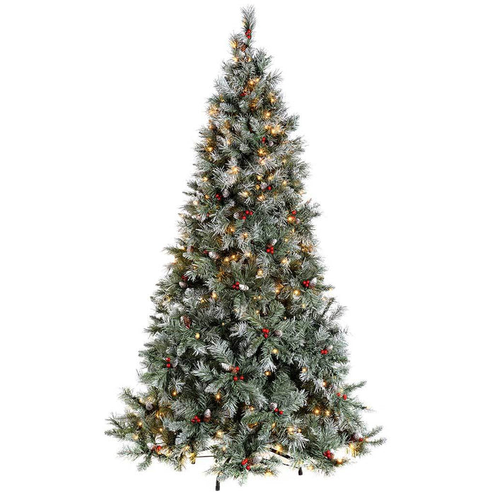 Werchristmas Pre Lit Scandinavian Spruce Pine Cone And