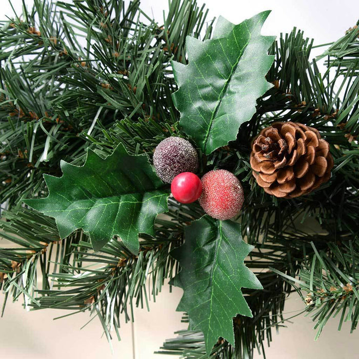 6 ft Natural Pine Cone and Berry Decorated Garland Christmas Decoration
