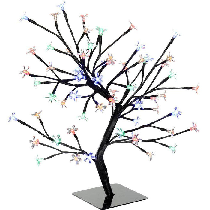 64 LED Lights Illuminated Cherry Blossom Tree Christmas Decoration, Multi-Colour, 1.5 ft /45 cm