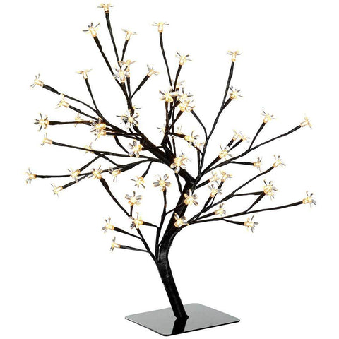 64 LED Lights Illuminated Cherry Blossom Tree Christmas Decoration, Warm White, 1.5 ft /45 cm