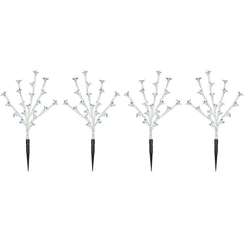 30 cm Cherry Blossom Tree Pathway Christmas Lights with 80 LED, Set of 4, White