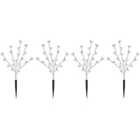 30 cm Cherry Blossom Tree Pathway Christmas Lights with 80 LED, Set of 4, Warm White