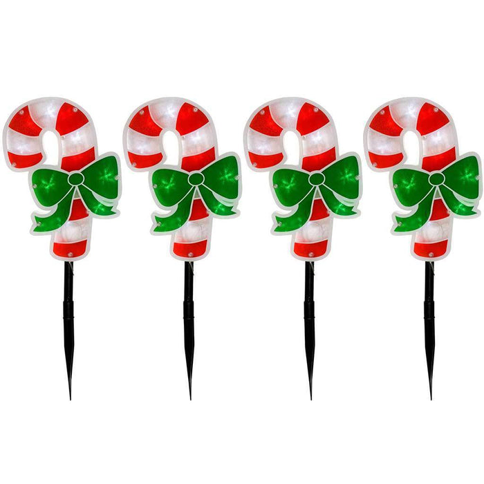 Candy Cane Pathway Christmas Lights Double Sided - 24 cm, Set of 4