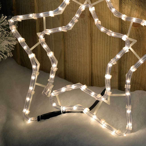 34 cm Large Star Rope Lights Silhouette Christmas Decoration