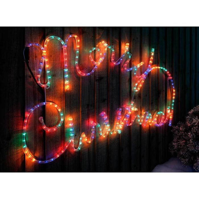 100 cm large merry christmas rope lights silhouette decoration 100 cm large merry christmas rope lights silhouette decoration multi colour aloadofball Gallery