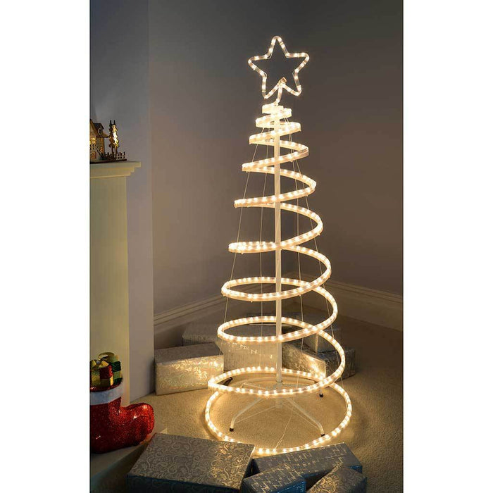 5ft 150 cm flashing 3d spiral christmas tree rope light silhouette 5ft 150 cm flashing 3d spiral christmas tree rope light silhouette warm white aloadofball Gallery