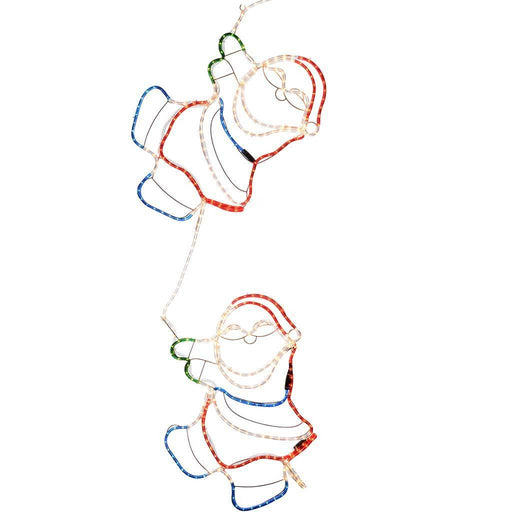 Animated Climbing Santa Rope Light Silhouette Christmas Decoration, 180 cm