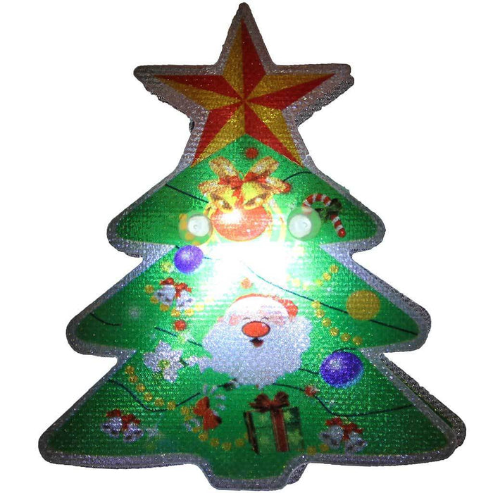 Christmas Tree LED Character Lights String Decoration, Set of 10, White