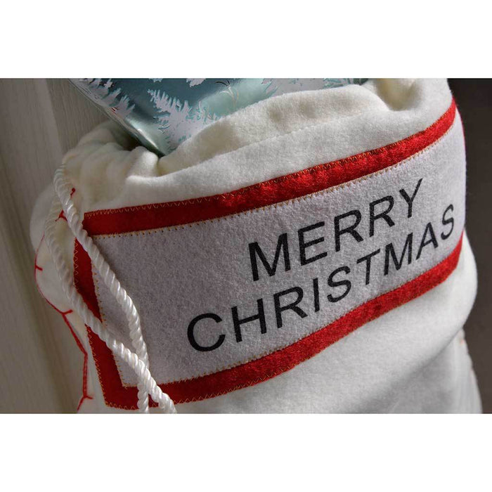 Christmas 62 cm Gift Present Bag Santa Sack with Red / White Design