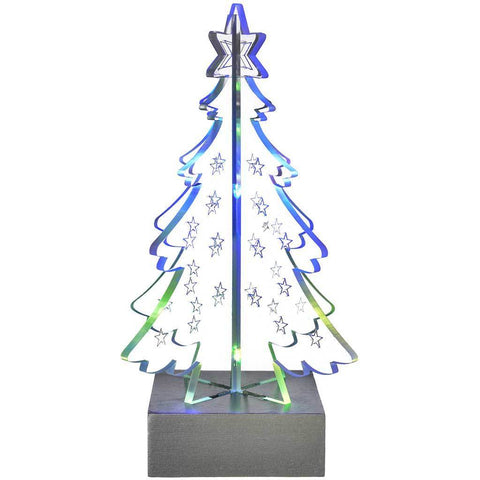 Pre-Lit 3D Christmas Tree Decoration with Colour Changing LED Lights