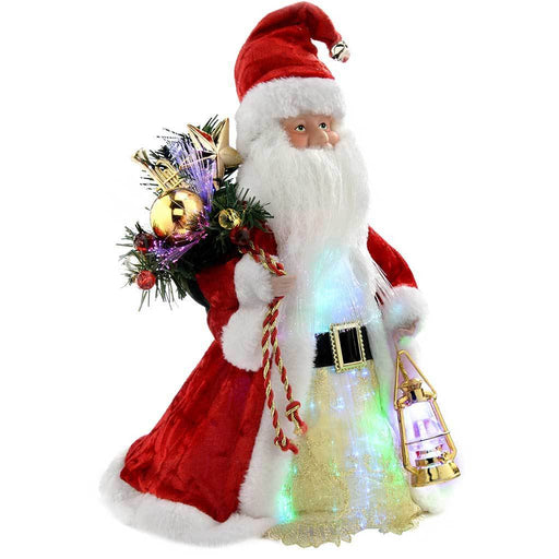 Father Christmas Tree Top Topper Decoration, 30 cm - Red/White