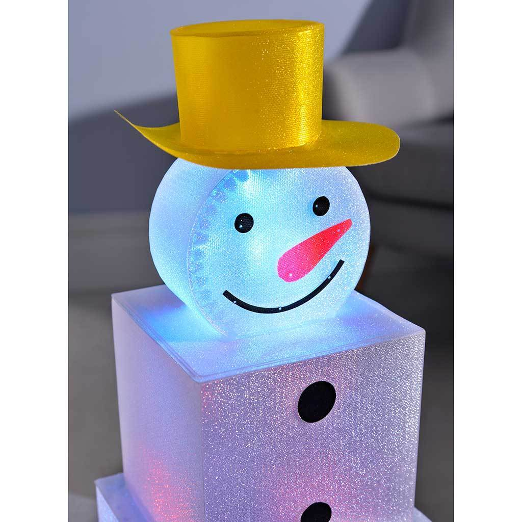 42 cm Snowman Pre-Lit Tower Colour Changing LED Christmas Decoration