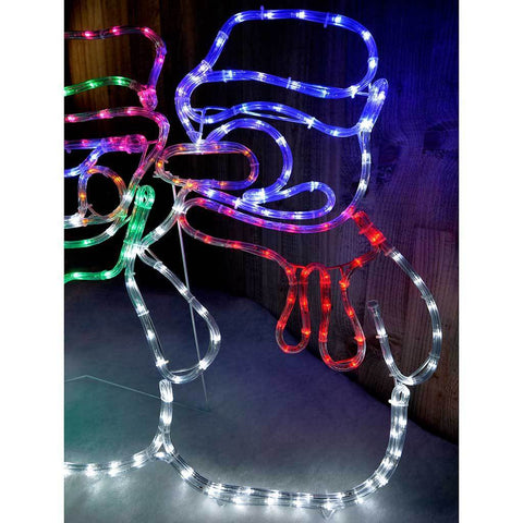Animated snowman led rope lights silhouette outdoor christmas animated snowman led rope lights silhouette outdoor christmas decoration 105cm aloadofball Gallery
