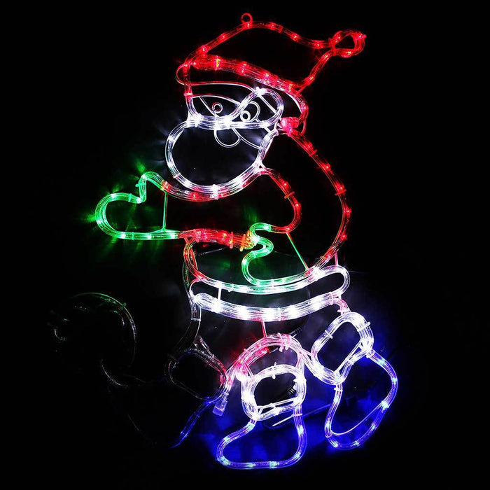 75 cm Large Animated Santa Play Football with Controller Rope Light Silhouette