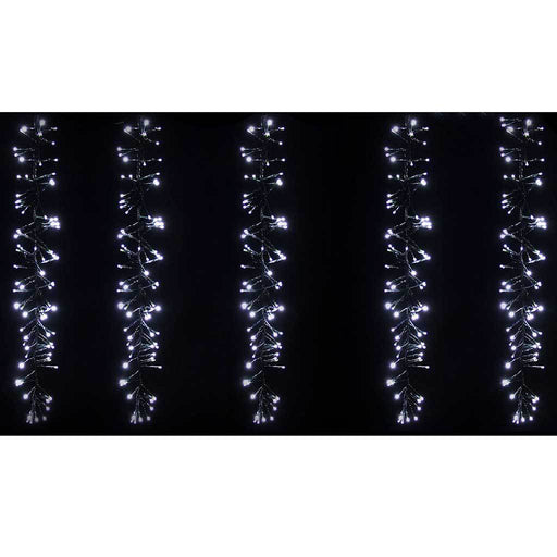 4 m x 80 cm 480 LED Multi- Function Cluster Curtain Light Christmas Decoration, White