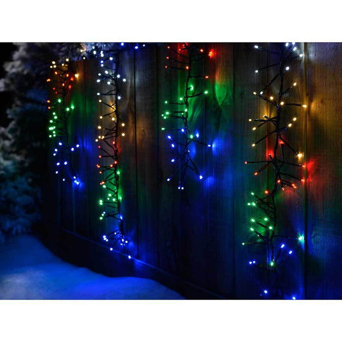 480 Five Colour LED Multi-Function Cluster Curtain Light, 4 m x 80 cm - Multi-Colour
