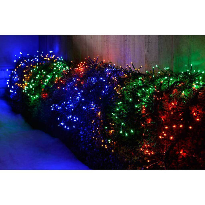 5 m 640 LED Snowing Effect Cluster Christmas Light String Decoration, Multi- Colour