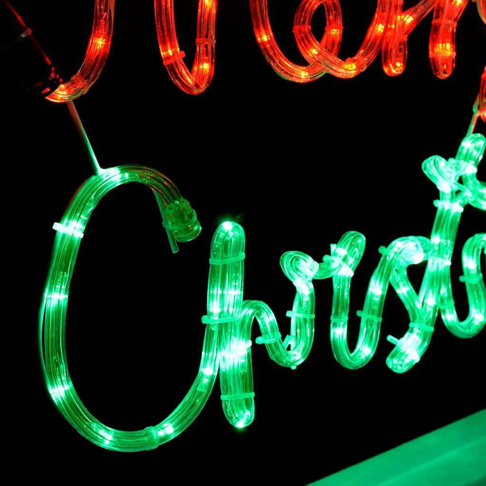 pre lit led merry christmas rope light silhouette 55 cm multi colour