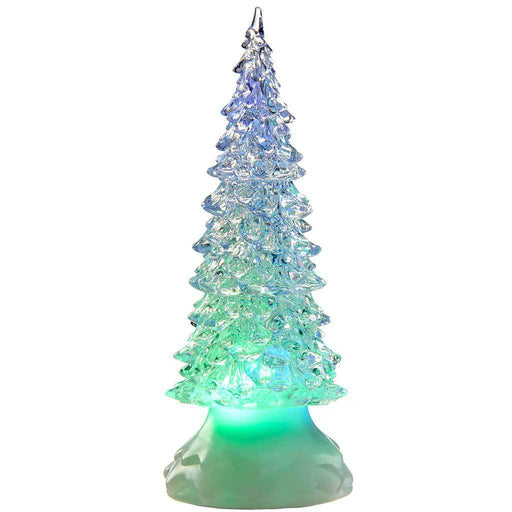 Pre-Lit LED Magical Colour Changing Glitter Christmas Tree, 21 cm - Multi-Colour