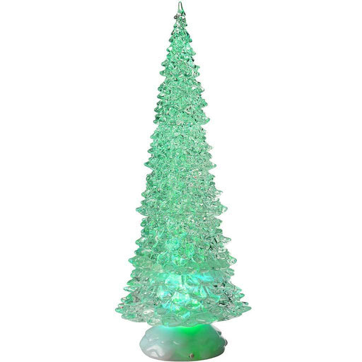 Pre-Lit LED Magical Colour Changing Floating Glitter Christmas Tree, 37.5 cm