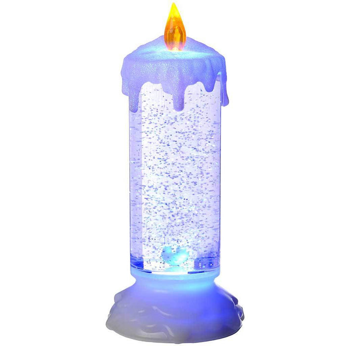 Pre Lit LED Magical Colour Changing Floating Glitter Candle 24 Cm