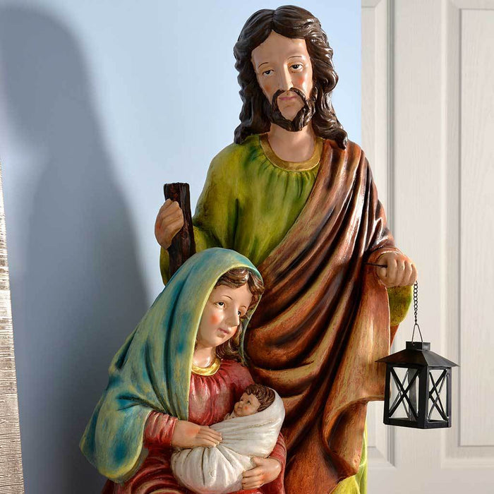 Pre-Lit Holy Family Scene Christmas Decoration, 82 cm - Large, Multi-Colour