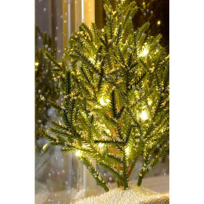 pre lit led snowing christmas tree lantern christmas decoration 48 cm white - Snowing Christmas Decoration