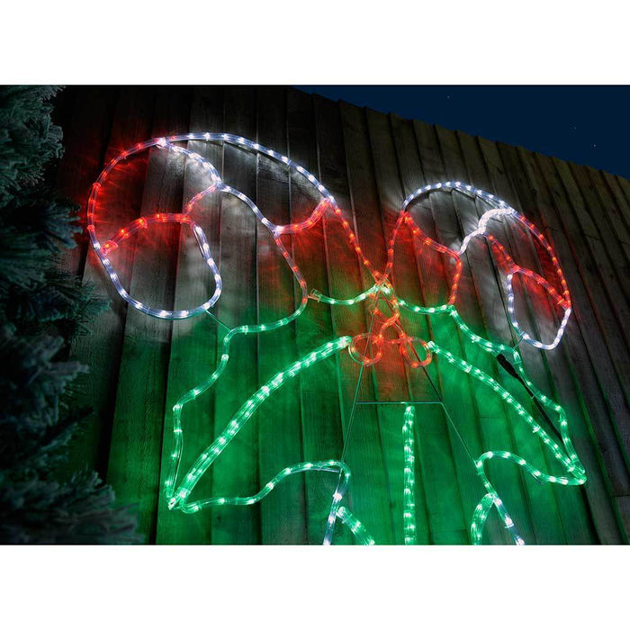 160 cm extra large pre lit led candy cane rope light silhouette 160 cm extra large pre lit led candy cane rope light silhouette multicolour aloadofball Images