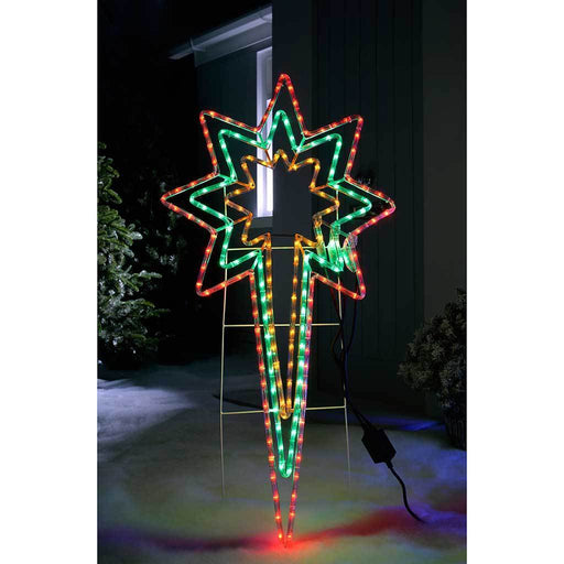 Animated North Star LED Rope Lights Silhouette with Speed Controller, 116 cm - Large