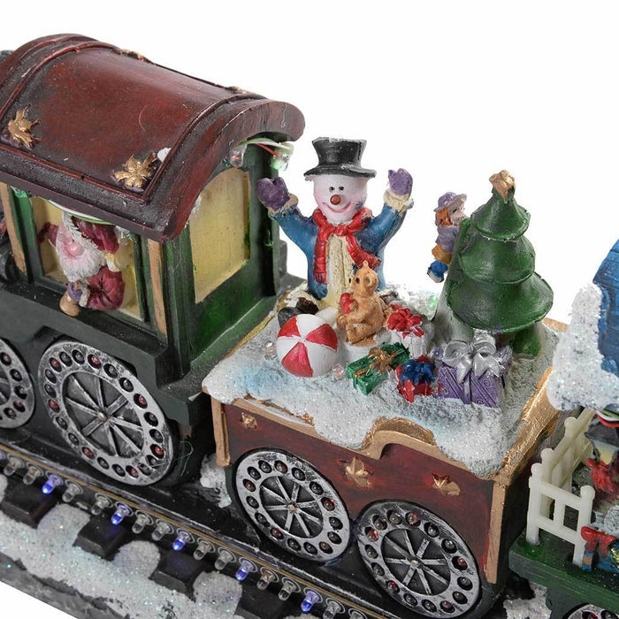 38 cm Large Train with Colourful Flashing LED Lights Christmas Decoration