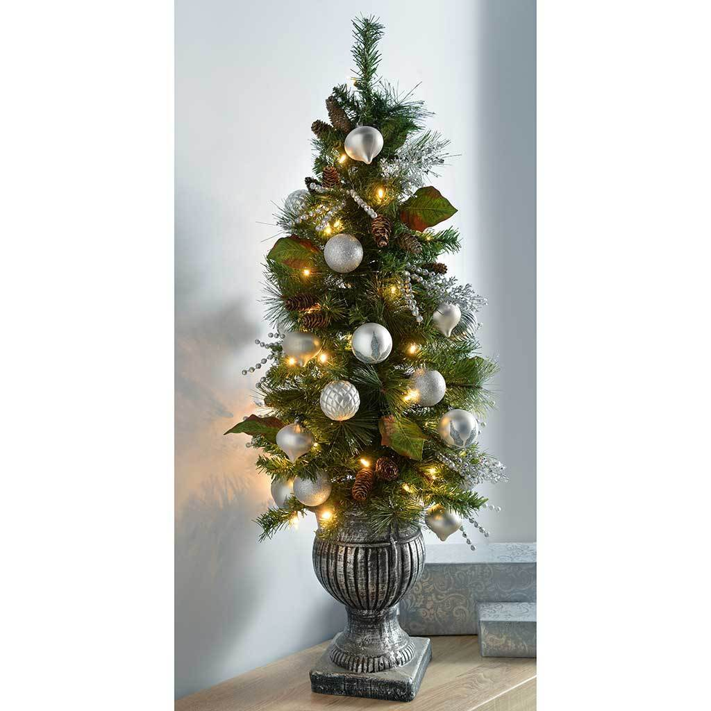 Pre Lit Potted Christmas Tree With 50 Warm White Led Fairy