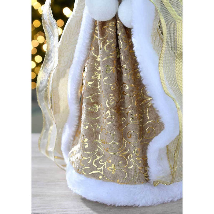 44 cm Large Angel Decoration Christmas Tree Top Topper, Gold
