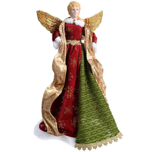 Angel Decoration Christmas Tree Top Topper, 44 cm - Large, Red