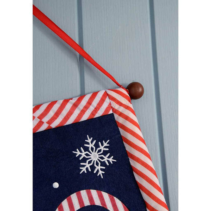 Ho Ho Ho Santa Hanging Flag with Colour Changing LED Lights, 50 cm - Multi-Colour | WeRChristmas