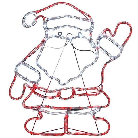 Santa Rope Lights Silhouette Christmas Decoration, 59 cm - Large