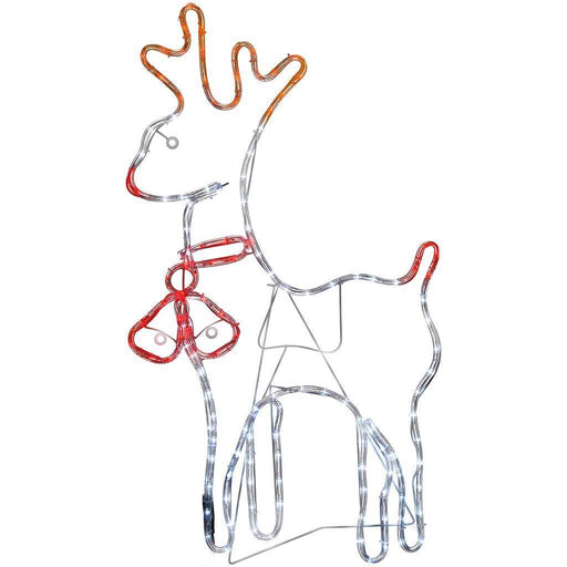 92 cm Large Reindeer Rope Lights Silhouette Christmas Decoration